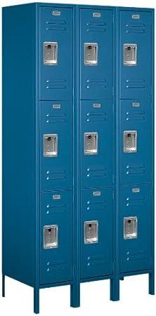 Salsbury Industries 63368GY-U Triple Tier 36-Inch Wide 6-Feet High 18-Inch Deep Unassembled Standard Metal Locker Gray