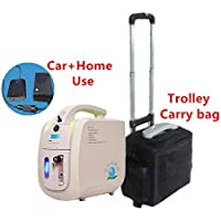 FDA approved Portable Traval Home PSA Oxygen Concentrator Generator Air Purifier O2 Supply Oxygen Making Machine (with rechargable battery, car adaptor,trolley bag)