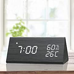 ▶Extra Features Ⓐ2 time mode: 12 hours & 24 hours Ⓑ2 temperature mode: Celsius & Fahrenheit ,℃ (0℃-50℃) ; ℉ (32℉-122℉)  Ⓒ2 power supply: Micro USB power cord for homely use and AAA batteries for travel use. (Batteries not included)  Ⓓ...