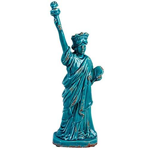 Estatua da Liberdade em Ceramica Azul