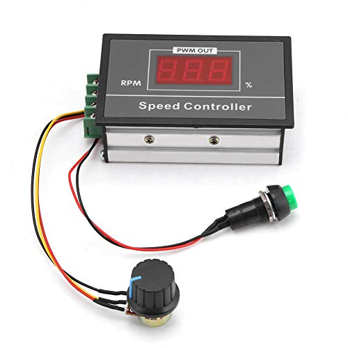 DC 6-60V 12V 24V 36V 48V 30A PWM DC Motor Speed Controller, Durable Stepless Speed Regulation Start Stop Switch for Motor