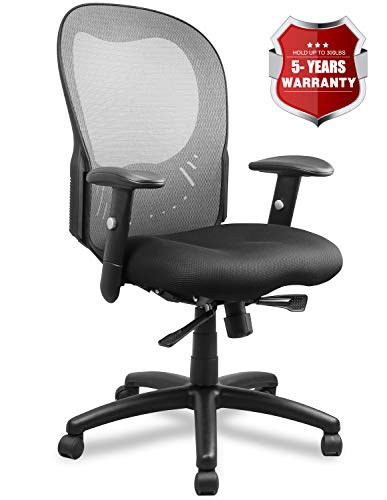 Becozier Ergonomic Mesh Office Chair with Breathable Mesh-Thick Seat Cushion-Flip Up Arms,Adjustable Desk Chair, Swivel Desk Chairs for Office Conference Room - Office Conference Room