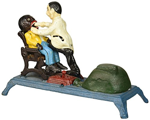 (Design Toscano The Dentist Chair: Pulling Teeth Collectors' Die-Cast Iron Mechanical Coin Bank)