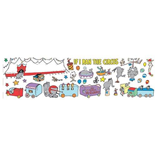 Paper Magic Eureka Dr. Seuss If I Ran The Circus - Trains Bulletin Board Sets (Train Pennant)