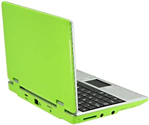 "WolVol LIME GREEN 7"" Mini Netbook Laptop Notebook Netbook WIFI Internet Android 2.2 Tons Apps Games YouTube Facebook 3 USB Ports 4gb HD 256mb Ram (INCLUDES: Velvet Pouch Case, Charger, Mini Optical Mouse)"