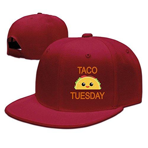 Sdkkfbha Taco Tuesday Unisex Adjustable Flat Visor Hat Baseball Cap ()
