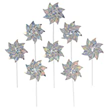In the Breeze 8-Piece Pinwheels, Silver Sparkle