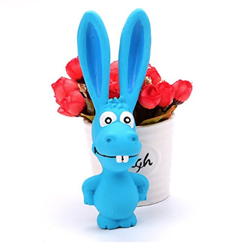 Tau Trading Squeaky Loud and Funny Dog Toy - Blue Donkey