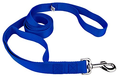 Picture of Country Brook Design | 6ft By 1 Inch Doublehandle Nylon Leash - Royal Blue