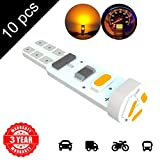 LED Monster 10 x T5 5 SMD Amber LED Bulbs Instrument Panel Gauge Cluster Replacement Lamp for Lexus