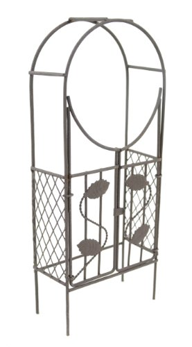 Touch of Nature Mini Iron Fairy Garden Arch with Gate, Rustic ()