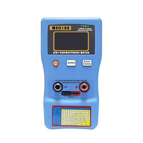 Signstek 2 in 1 Digital Auto-ranging ESR + Capacitance Meter 0-470Ω ERS 0μF-470mF Rechargeable Capacitance Tester and Internal Resistance Tester with SMD Test Clips and USB Cable by Signstek (Image #6)