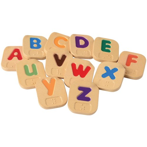 Braille Alphabet Uppercase and Lowercase Letter Tile 26 pc. Set