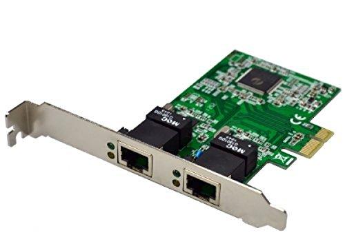 Twin Dual Gigabyte Gigabit PCI-Express LAN (PCI-E) Netzwerkkarte 10/100/1000