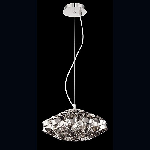 Eurofase 26332-017 Grace 3-Light Chandelier, Nickel (Grace Three Light Chandelier)
