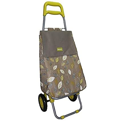 f20d92231e2 Highlands Lemongrass Thermal Insulated Large Wheeled Shopping Trolley  Lightweight Bag Folding Cart Strong Travel Beach Holiday Grocery Camping  Caravan ...