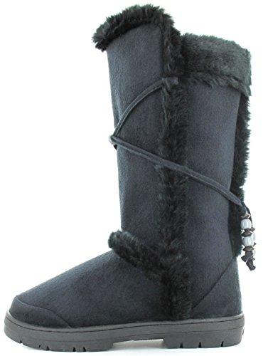 Sintético negro para Botas de Ella mujer Material Shoes Negro TILLY nqUFCA74