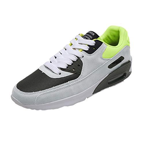 Running Mesh Piattaforma Lace Verde up Scarpe Casual Traspirante Ihaza toe Uomo Round Sneakers UEqOY