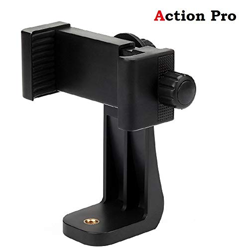 Action Pro Mount Adapter/Vertical Bracket Holder Clip 360 Degree Tripod Clamp for All Smartphones