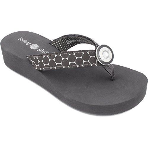 Lindsay Phillips Taylor Wedge Flip Flop Grey Size 6 (12 Ct Invitation Kit)