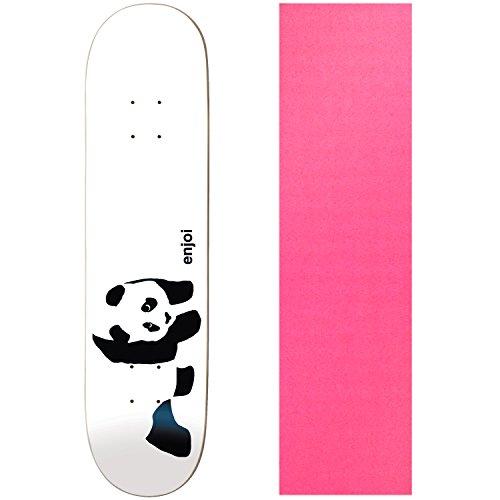 (Enjoi Skateboards WHITEY PANDA Deck Only skateboard Pink GRIP)