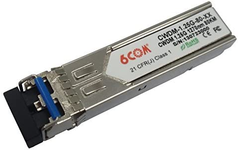 6COM CWDM SFP Optical Transceiver 1.25G 40km 1550nm LC Connector compatible with Nortel item number is AA1419029-E5