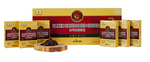 200g (10ea X 20g), Korean Red Ginseng Root Honeyed Slices, Saponin, Panax