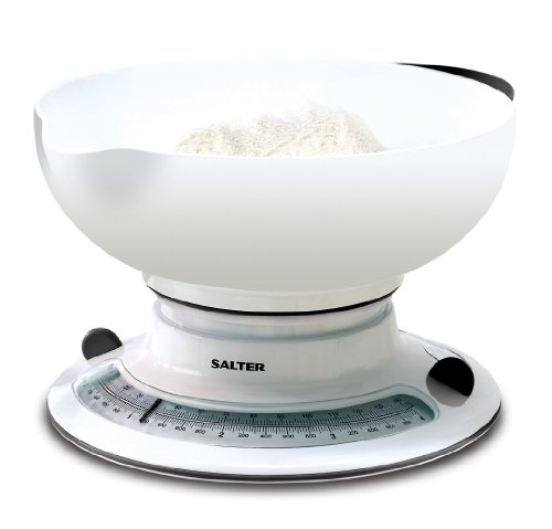 Salter Aqua Weigh Mechanical Scale White 4kg (Best Kitchen Scales Uk)