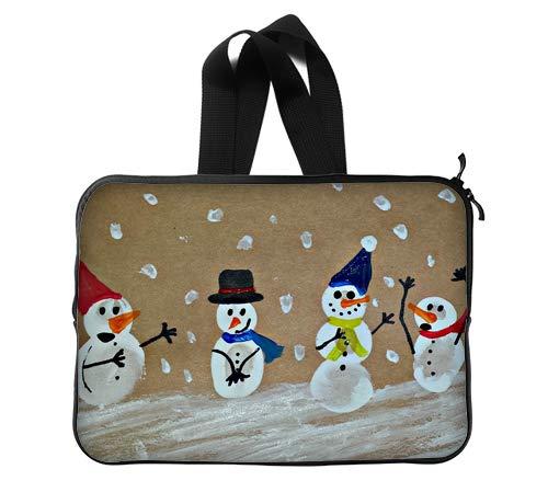 Snowmen Art Painting Custom Lapotp Sleeves Bags 14