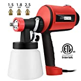 VIVOHOME Electric 450W 3 Patterns Hand Hold HVLP Air Paint Spray Gun with 3 Copper Nozzles ETL Listed