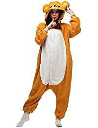 Pajamas Animal Costume Onesie Adults Sleepwear Kigurumi Cosplay Rilakkuma