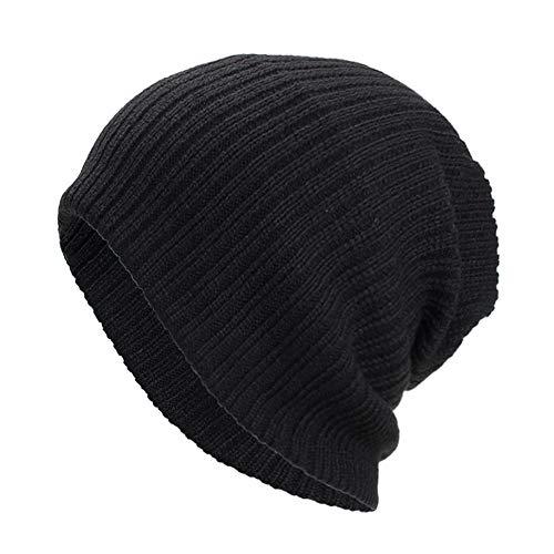 NRUTUP Winter Hats, Unisex Warm Hat, Skull Cap, Ski Hat - Knit Hat .(Black,Free Size)