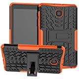 Galaxy Tab A 8.0 Inch 2018 T387 Stand Case DWaybox Hybrid Rugged Heavy Duty Hard Back Case Cover with Kickstand for Samsung Galaxy Tab A 8.0 Inch 2018 Version SM-T387 (Orange)