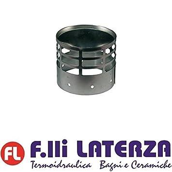 Terminal Rejilla Desagüe humos acero inoxidable Diam. 60 Tubo Aluminio Estufa Pellets: Amazon.es: Hogar