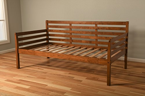 Jerry Sales Best Wood Daybed Frame Twin Size Choice to Add Trundle (Frame only Mattress not Included)