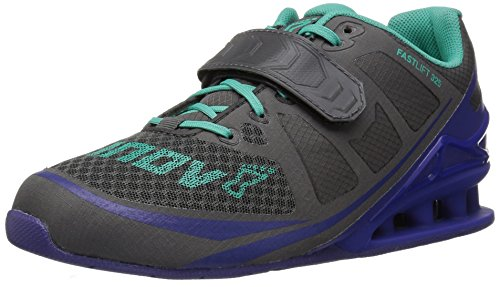 Inov-8 Women's Fastlift 325 Cross-Trainer Shoe, Dark Grey/Purple/Teal, 9.5 E US
