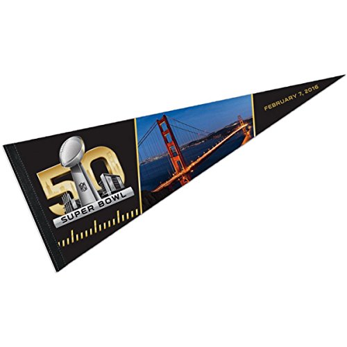 2016 Super Bowl 50 Logo Pennant and (Wool Nfl Banner)