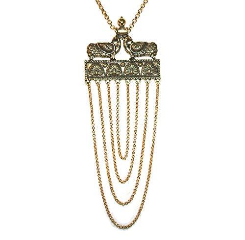 ETRUSCAN RENAISSANCE NECKLACE Gold Plted Swag Pendant