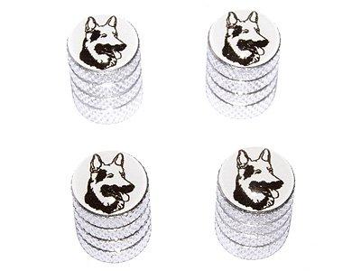 German Shepherd - Dog Tire Rim Valve Stem Caps - Aluminum