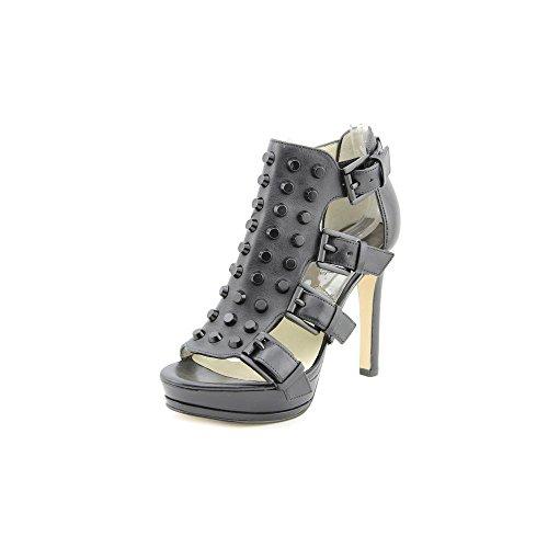 Michael Kors Bryn Platform Sandals Heels Studs Leather Black (7.0)