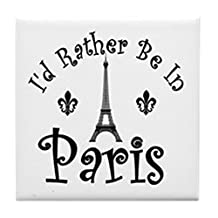CafePress - PARIS - Tile Coaster, Drink Coaster, Small Trivet