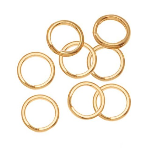 14k Gold Filled Split Rings - Beadaholique 14K Gold Filled Split Rings 6mm (8)