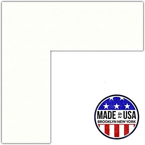12x14 Polar White / Porcelain Custom Mat for Picture Frame with 8x10 opening size (Mat Only, Frame NOT Included)