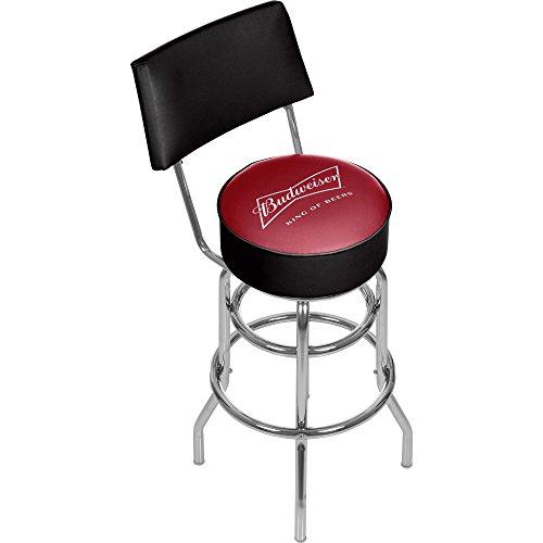 Trademark Gameroom Budweiser Swivel Bar Stool with Back - Bow Tie -
