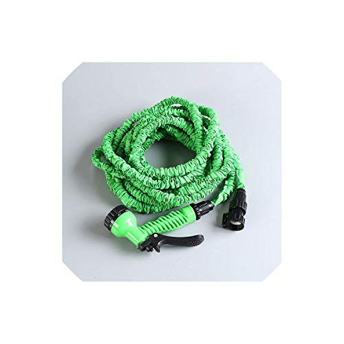 Easy-S-E-H Garden Hoses Reels Plastic Hoses EU Hose Pipe with Garden Supplies Watering Irrigation Home Expandable Water Hose,50Ft,Green
