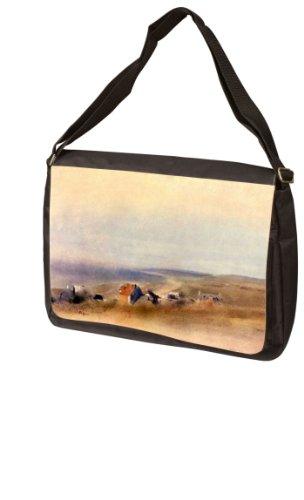 Houses on cliffs above a bay By Edgar Degas Laptop Bag - Shoulder Bag - Messenger Bag
