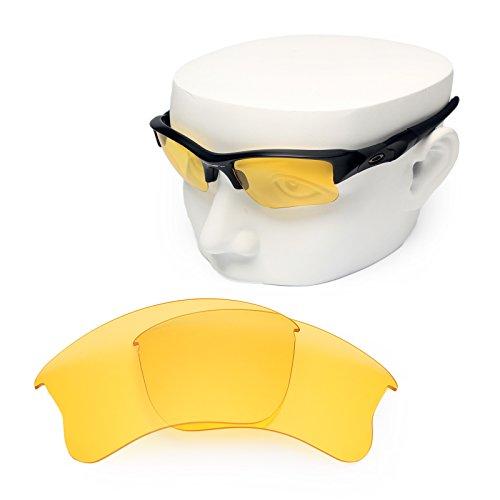 OOWLIT Replacement Sunglass Lenses for Oakley Flak Jacket XLJ HD - Yellow Sunglasses Jacket