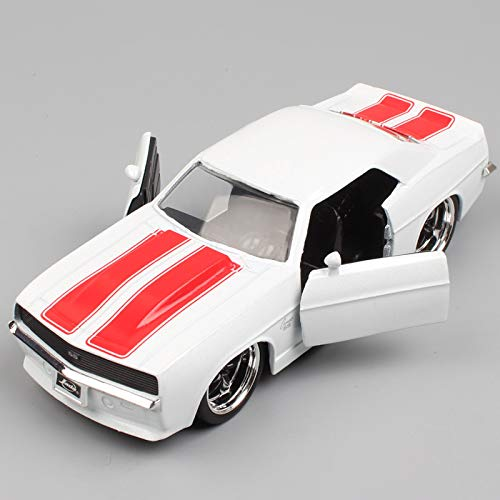 Greensun 1:32 Scale Vintage Bigtime 1969 Chevrolet Chevy Camaro SS Metal die cast Model Muscle car Vehicle Toy Gifts for Kid's Boys