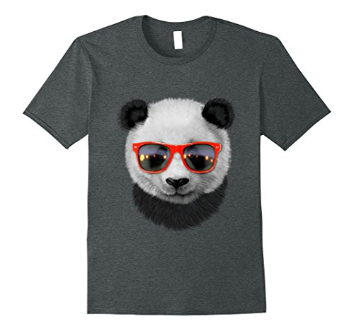 Mens Giant Panda in Red Retro Sunglass T-Shirt Small Dark - Panda With Sunglasses