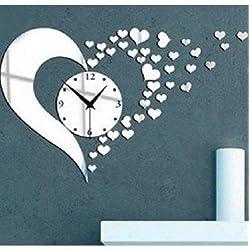 3D Acrylic Mirror Wall Sticker Clock Decoration Decor